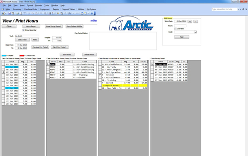Arctic Mechanical Job Costing